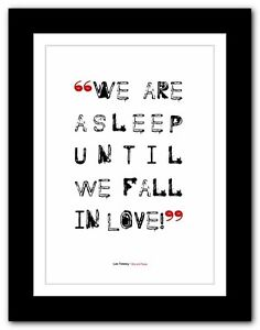 Tolstoy War And Peace Typography Love Quote Poster Print