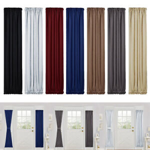 Solid-Color-Blackout-French-Door-Curtain-Panel-Rod-Pocket-Window-Treatment