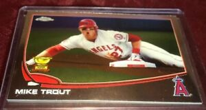 Details About Mike Trout 2013 Topps Chrome All Star Rookie Cup Card 1 Los Angeles Angels