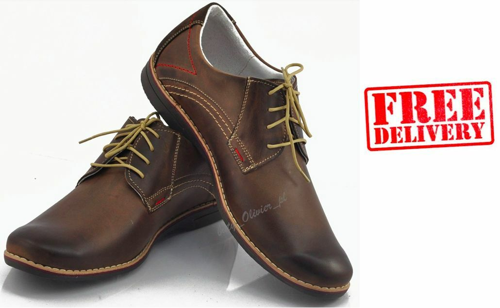 BRAND NEW MENS LEATHER CASUAL FORMAL LACE UP schuhe Größe 6 7 8 9 10 11 WARRANTY