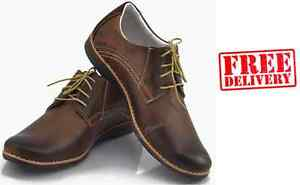 BRAND-NEW-MENS-LEATHER-CASUAL-FORMAL-LACE-UP-SHOES-SIZE-6-7-8-9-10-11-WARRANTY