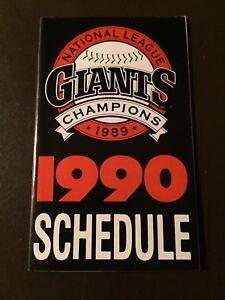 Details about San Francisco Giants 1990 MLB pocket schedule - Budweiser