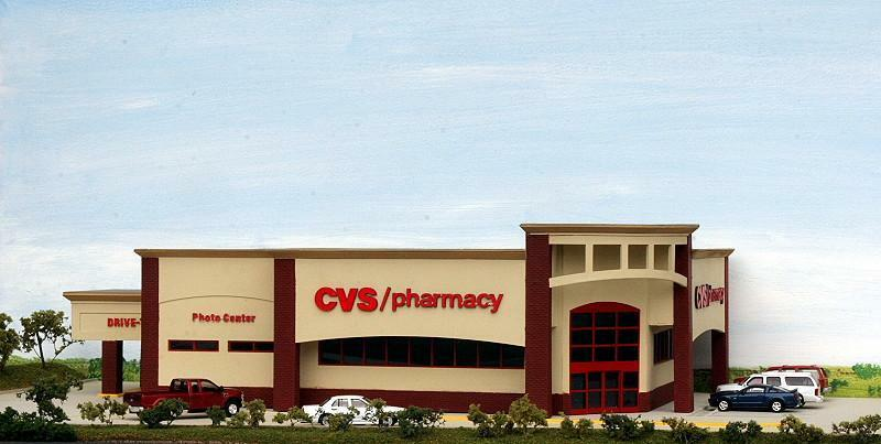 CVS Pharmacy centro comercial edificio 420x240x110mm Ho 1 87 Escala Kit de cumbre CVS