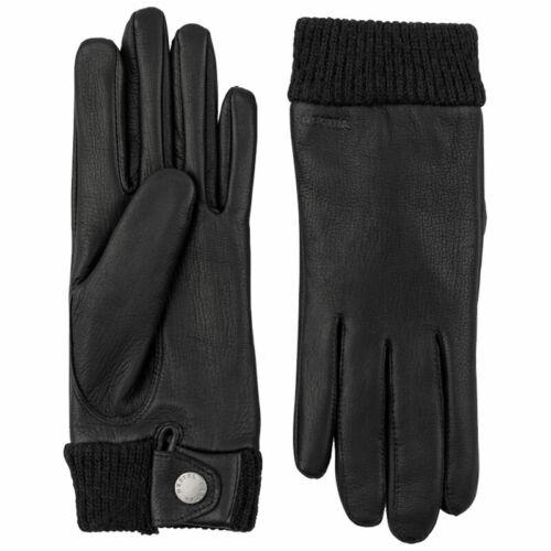 HESTRA Idun elegante und geschmeidige Hirschleder Handschuhe Damen Wollfutter
