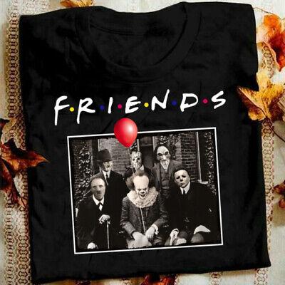 Friends Horror M/änner Herren T-Shirt Horror Halloween Nightmare Freddy Michael Myers Jason Clown