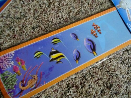 New Ceiling Fan Blade Decals//Applique Room Decor Tropical Fish set// 5 Removable