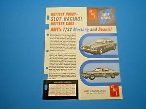 AMT-Original-1967-Mustang-amp-Avanti-slot-car-color-dealer-Flyer-L-K