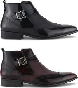 Blakeseys-BROSNAN-Mens-Formal-Chisel-Toe-Patent-Leather-Zip-Up-Ankle-Boots