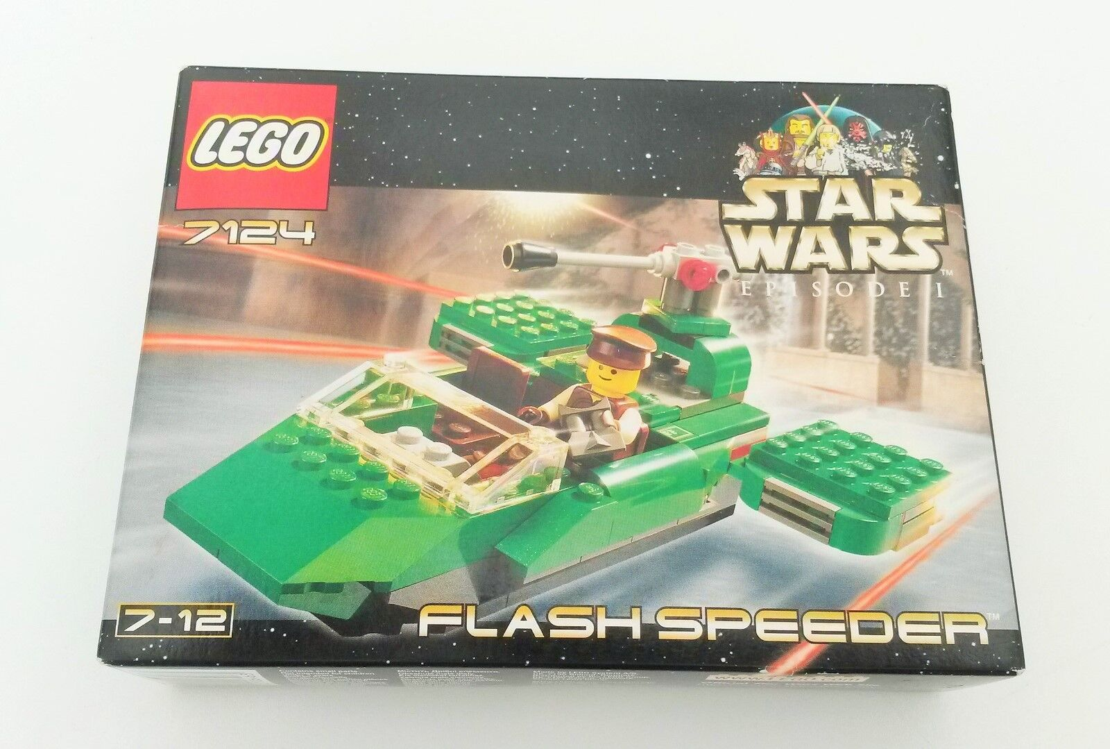Vintage Lego Star wars, Naboo Flash Speeder, 7124, New and Sealed,
