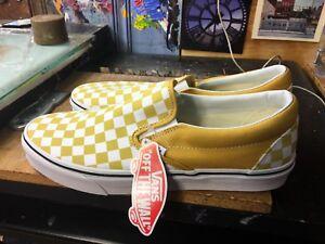 478eb24a55ce6e Vans Classic Slip-On (Checkerboard) Ochre White Size US 11.5 Men s ...