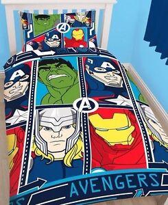 Funda Nordica reversible Vengadores Avengers Marvel cama 90cm