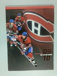 NHL-MONTREAL-CANADIENS-2009-10-SEASON-TICKET-FOLDER-no-tickets