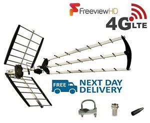 Freeview-TV-70-Element-Triboom-Aerial-4G-Outdoor-amp-Indoor-Digital-HD-4K-Signals