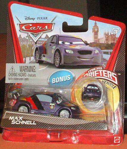 New Disney Pixar CARS 2 ~ MAX SCHNELL with BONUS MICRO DRIFTER Vehicle DieCast