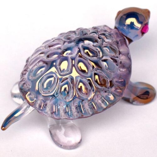Turtle Tortoise Figurine of Hand Blown Glass Crystal