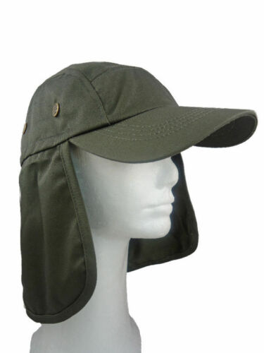 NEW FISHING SUMMER HAT CAP WITH LONG NECK FLAP MANY COLORS AVAILABLE