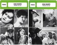 FICHE CINEMA x2 : GINA MANES DE 1916 A 1965 -  France (Biographie/Filmographie)