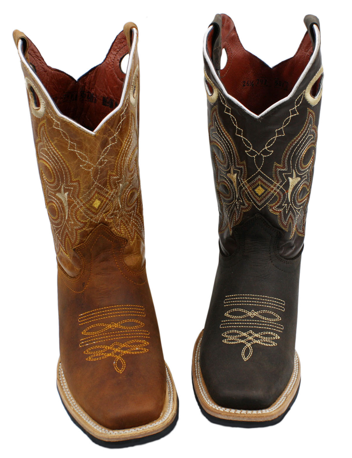 Men genuine cowhide Western square toe cowboy boots quality boots Style  741