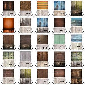 25 Type 5x7FT Vinyl Studio Photography Backdrop Wood Wall Floor Background Props