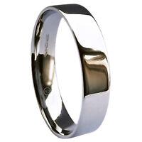 Sale 5mm 9ct White Gold Wedding Rings Flat Court 4.3g Uk Hm Uk Q. Usa 8