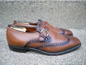 Vintage Freeman Shoes Brown Leather Men's Wingtips Pimp Gangster Dress Shoes 8