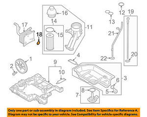vw volkswagen oem 07 09 touareg engine parts oil cooler seal rh ebay com 2004 Volkswagen Passat Engine Diagram 2004 Volkswagen Passat Engine Diagram