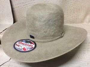 42bf22e51930b American Hat Co. Grizzly 20X Long Hair Beaver Fur Felt Cowboy Hat ...