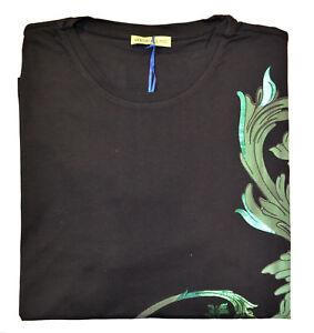 Maglia-Maglietta-T-Shirt-Girocollo-VERSACE-JEANS-Nero-Black-T-Shirt-Crew-Neck-Uo