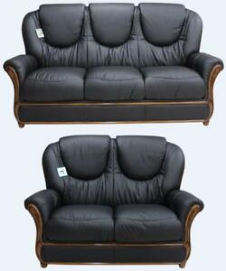 Image Is Loading Juliet 3 Seater 2 Italian Leather Two