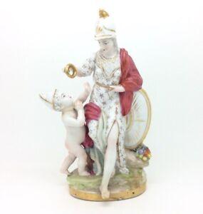 Antique-Continental-German-Porcelain-Figurine-Mythology-Cherub