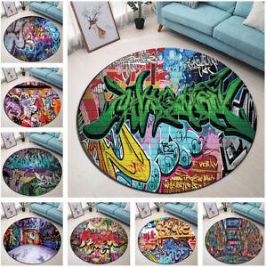 Urban-Vintage-Graffiti-Art-Area-Rugs-Round-Bedroom-Carpet-Non-slip-Floor-Mat-Rug