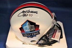 Autographed Joe Greene Hall of Fame Mini Helmet with JSA COA
