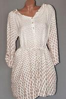 Lagenlook Long Shirt Tunika Bluse Kleid Punkte Polka Dots 38 40 42 M L XL ITALY