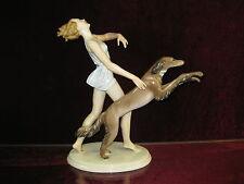 Gustav Oppel Entwurf  Rosenthal Figur Art Deco Barsoi Windhund Greyhound 29 cm