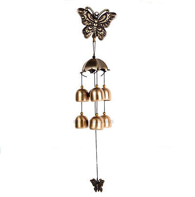 Wind Chimes Retro Wrought Metal Hanging Chimes Ornament Bell Beauty Butterfly