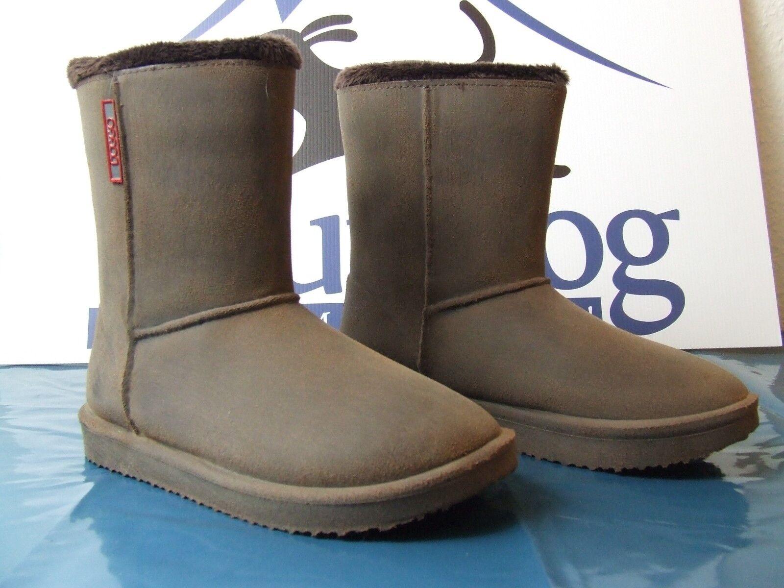 Warm, stylisch und wasserdicht  Gummi Stiefelie in Velourleder- Optik MAYA in 40