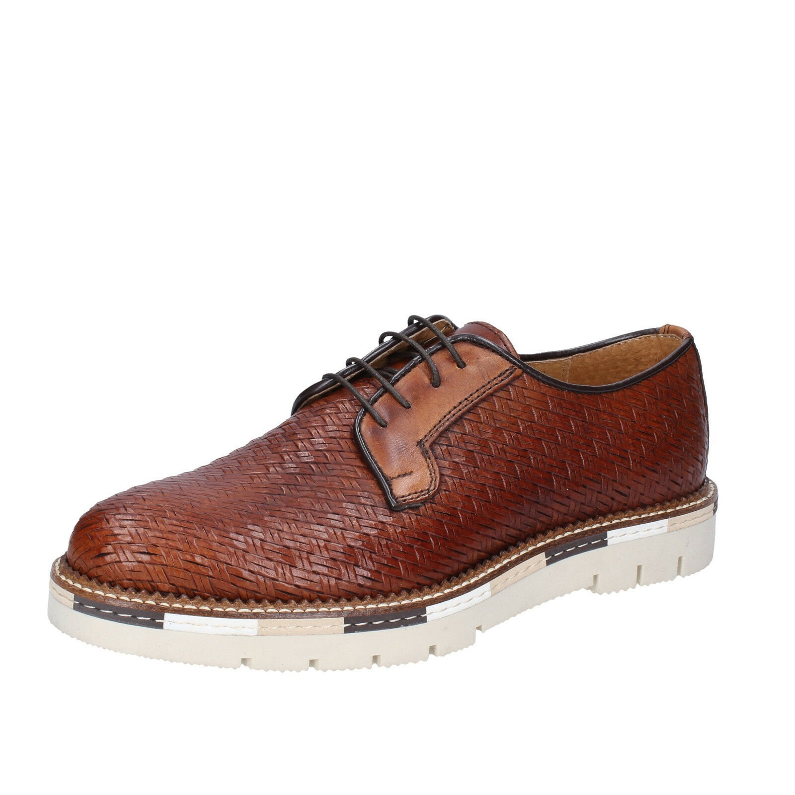 Mens shoes OSSIANI 5 (EU 39) elegant brown leather BT850-39