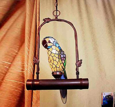 Tiffany Büro Ara Papagei Tiffanylampe Decken Schaukel Lampe Hängelampe GN225