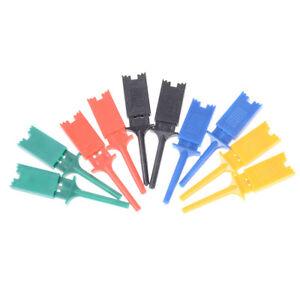 10pcs 5 Color Mini Grabber SMD IC Test Clip Hook Probe Jumper New