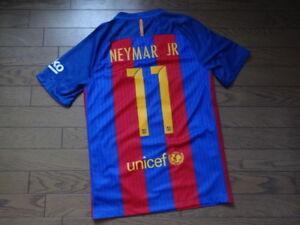 FC Barcelona  11 Neymar Jr. 100% Original Jersey 2016 17 Home S Good ... 31705c9464566