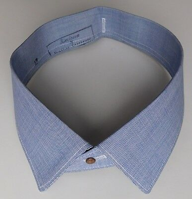 Amicus blue shirt collar size 17 vintage 1950s 1960s workers reversible UNUSED