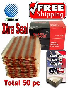 50-Xtra-Seal-TIRE-PLUG-SEALS-100-SELF-VULCANIZING-TUBELESS-TIRE-REPAIR