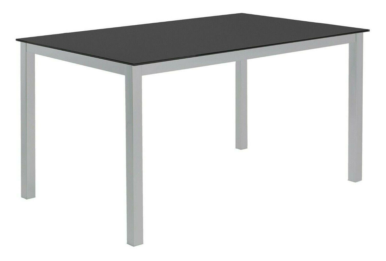 Mesa cocina grande o salon comedor cristal templado negro y patas ...