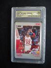 1990 Star NBA Michael Jordan Chicago Bulls Red / Grey Ad 2 Card Lot Graded USA 8