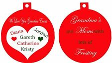 Personalized Ornament custom gift idea Grandma's Mom's with lots frosting Nana