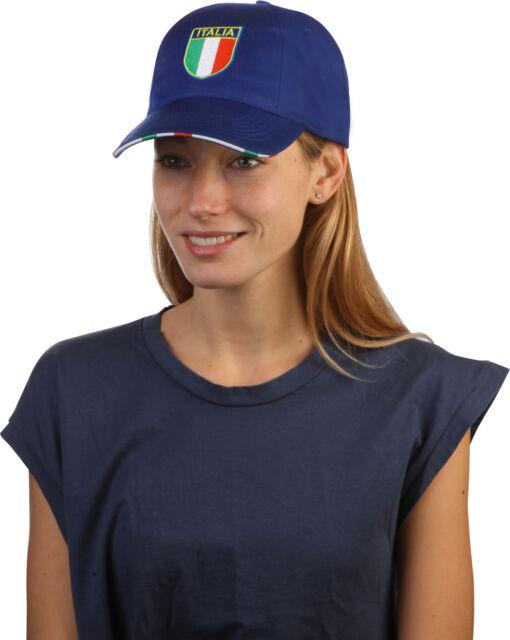 Cappello Cappellino con visiera rigida SCUDETTO TRICOLORE BANDIERA ITALIA