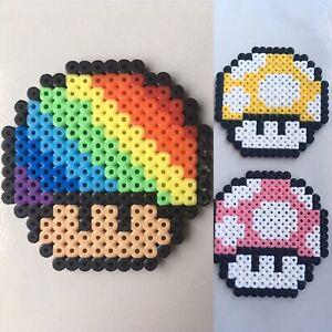 Pixel Art Perles A Repasser Champignon De Couleur Ebay