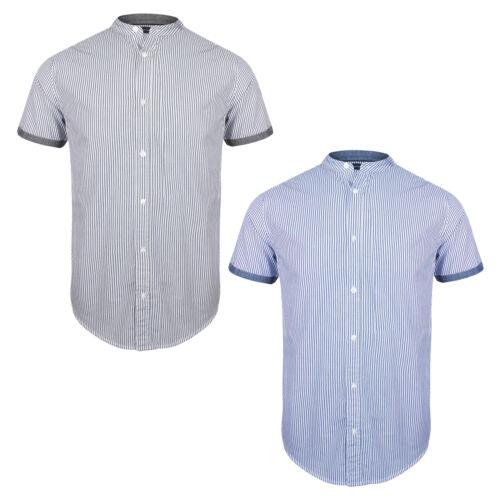 Mens Brave Soul Short Sleeve Shirt Grandad Henley Collar SS19 NEW Sizes S-XL