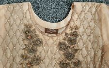 Indian Designer Pakistani Wedding Party Wear Latest peach  outfit size Medium