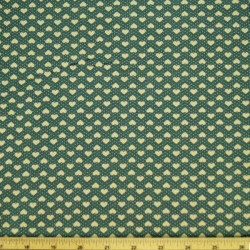 100/% Cotton Poplin Fabric Rose /& Hubble 7mm Hearts Polka Dots Spots